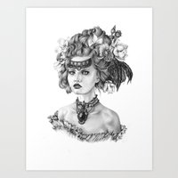 fleur de lis Art Prints featuring Fleur De Lis by April Alayne