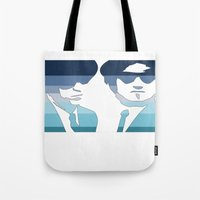 blues brothers Tote Bags featuring Blues Brothers (Tribute) by Kerosene Bill