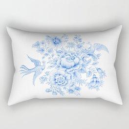Blue asiatic pheasant Rectangular Pillow