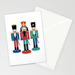 Three Nutcracker Figures Stationery Cards