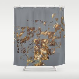 Bronze on Gray Square #abstract #society6 #decor #geometry Shower Curtain