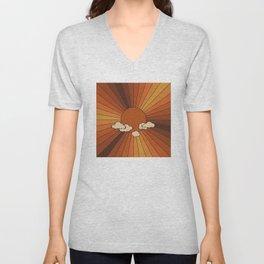Retro Sunshine Unisex V-Neck