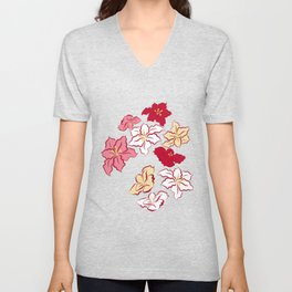 Poinsettia - 4 colors Unisex V-Neck