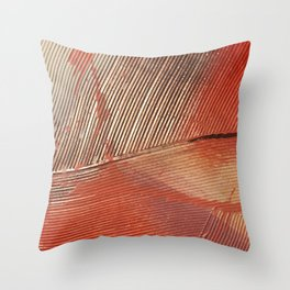 Gemstone #3: a textured, abstract piece with a hint of gold by Alyssa Hamilton Art Throw Pillow
