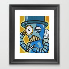 Monacle Bot Framed Art Print