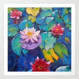 Water flowers Art Print