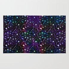 Midnight Rainbow Glitter Rug