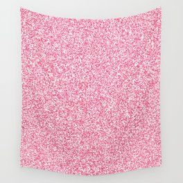 Spacey Melange - White and Dark Pink Wall Tapestry