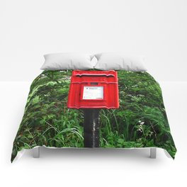 Red UK Letterbox Painting Comforters
