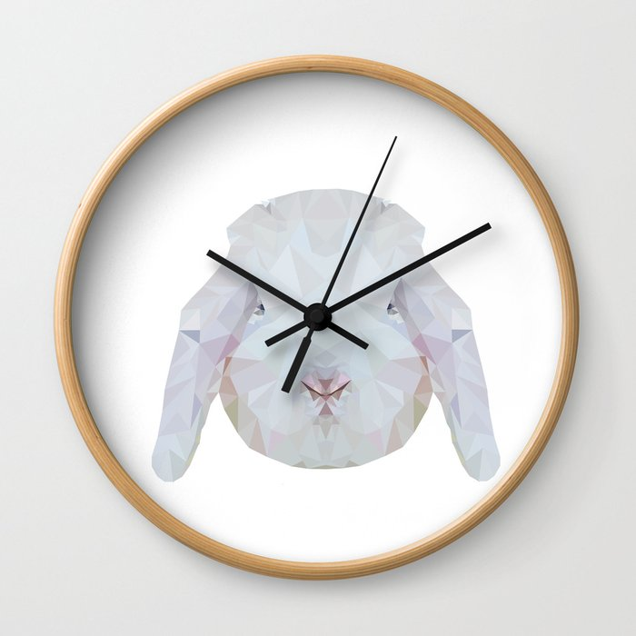 Bunny Portrait Wall Clock