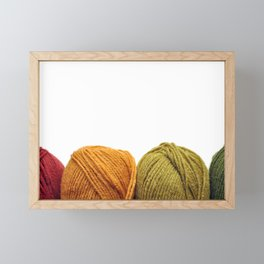 Four Skeins of Yarn in a Row Framed Mini Art Print