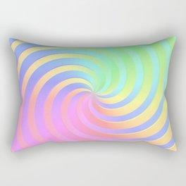 Rainbow Chrome Spiral Rectangular Pillow