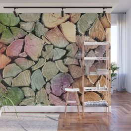 colorful wood Wall Mural