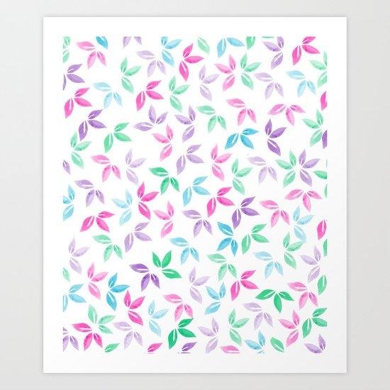 Flower Pattern VII Art Print