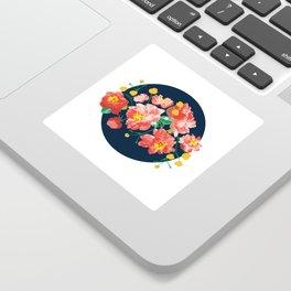 Peonies Illustration Sticker