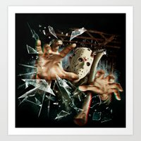 Art Print featuring Friday the 13th Part 3: 3D by FrightRags