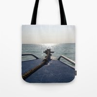 thailand Tote Bags featuring Thailand Boatride by Plutonian Oatmeal
