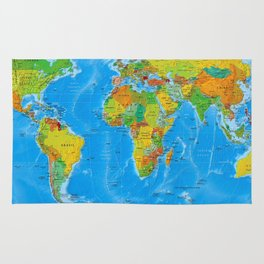 World Map Concept Rug