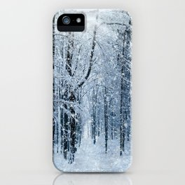 Winter wonderland scenery forest  iPhone Case