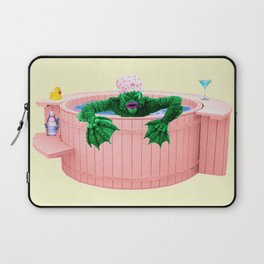 Black Lagoon Monster In Hot Tub Laptop Sleeve