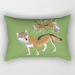 Eastern Wolf (Canis lupus lycaon) (c) 2017 Rectangular Pillow