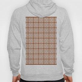 Brown Greek Key Pattern Hoody