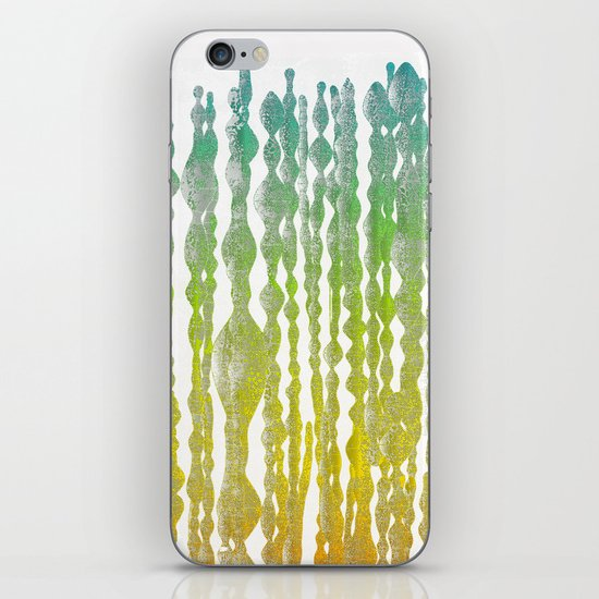 psychedelic stripes - green iPhone & iPod Skin