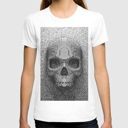Pixel Skull B&W T-shirt
