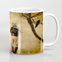 pilot Mugs featuring The Pilot by The Strange Days Of Gothicrow