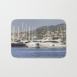 Yalikavak Marina Bodrum Turkey Bath Mat