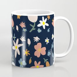 Navy Bloomers Coffee Mug