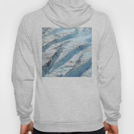 Don't Fall! Alaskan Glacier's Dangerous Blue Ice Crevasses Hoody