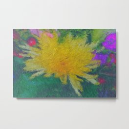 Yellow Flower impressionist style Metal Print
