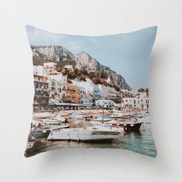 banchinella porto, italy Throw Pillow