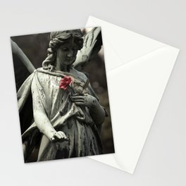 Angel with a rose Stationery Cards