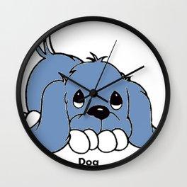 Cachorro roxo Wall Clock