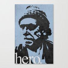 Charles Bukowski - hero. Canvas Print