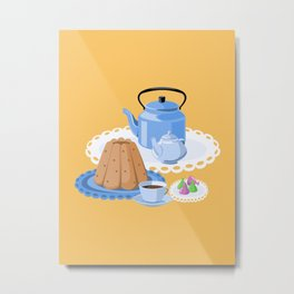 Time to drink tea Metal Print