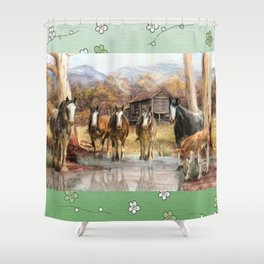 High Country Hideaway Shower Curtain