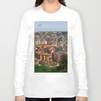 skyline Long Sleeve T-shirts featuring Skyline by Amy Taylor