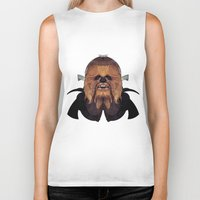 chewbacca Biker Tanks featuring Chewbacca by lazylaves