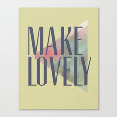 Make Lovely // Leaf Canvas Print