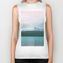 Mountain Lake - Nature Photography - Turquoise Teal Pink Biker Tank