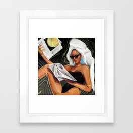 Evening Hot News Framed Art Print