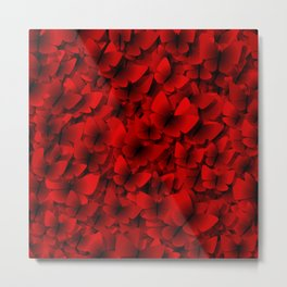 red butterflies Metal Print