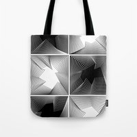 psych Tote Bags featuring psych by glitch