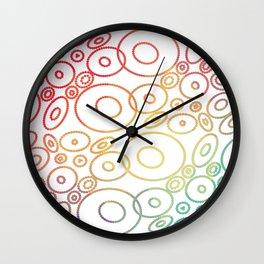 Beautiful Colored Circles Wall Clock
