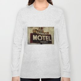 Vintage El Sombrero Motel Sign Long Sleeve T-shirt