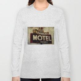 Vintage El Sombrero Motel Sign Long Sleeve T-shirt