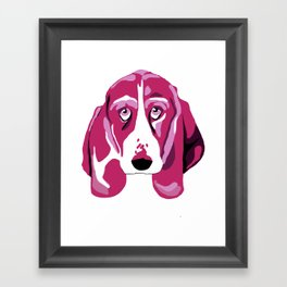 Hound Dog Framed Art Print